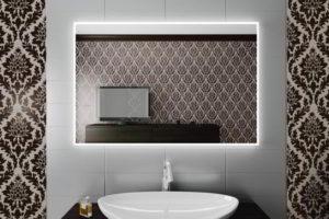 зеркало в ванную комнату с подсветкой фото 21