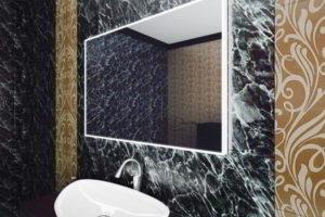 зеркало в ванную комнату с подсветкой фото 23