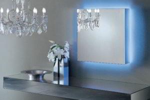 зеркало в ванную комнату с подсветкой фото 25