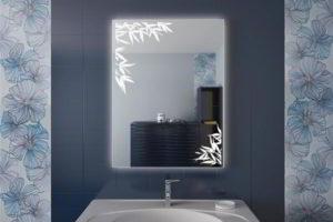 зеркало в ванную комнату с подсветкой фото 26