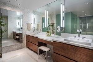 зеркало в ванную комнату с подсветкой фото 29