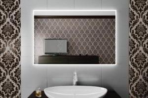 зеркало в ванную комнату с подсветкой фото 32