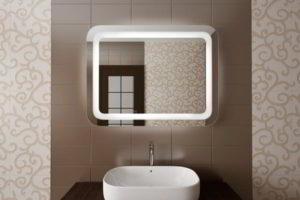 зеркало в ванную комнату с подсветкой фото 34