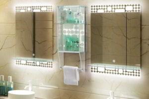 зеркало в ванную комнату с подсветкой фото 35