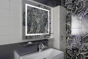 зеркало в ванную комнату с подсветкой фото 40
