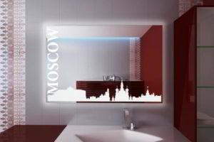 зеркало в ванную комнату с подсветкой фото 41