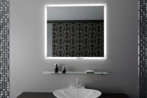зеркало в ванную комнату с подсветкой фото 42