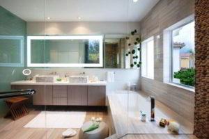 зеркало в ванную комнату с подсветкой фото 43