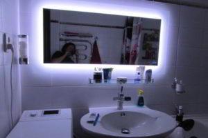 зеркало в ванную комнату с подсветкой фото 8