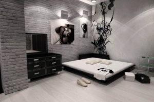 минимализм в спальне фото 16