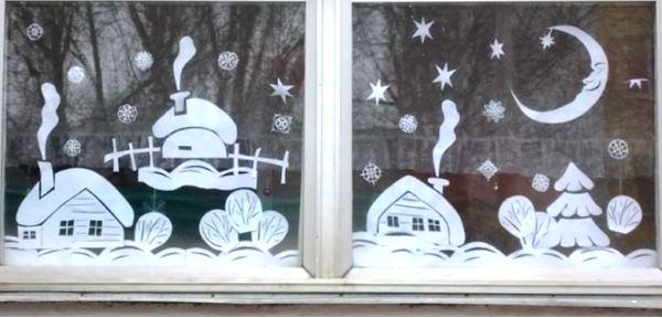 nok-2 Украшения на окна к Новому году: 13 идей для праздничного настроения