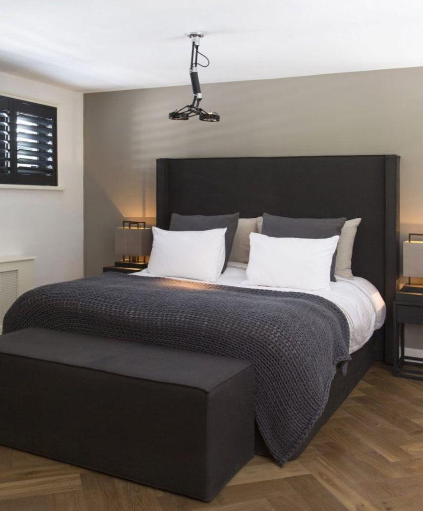 спальня в стиле лофт в квартире фото