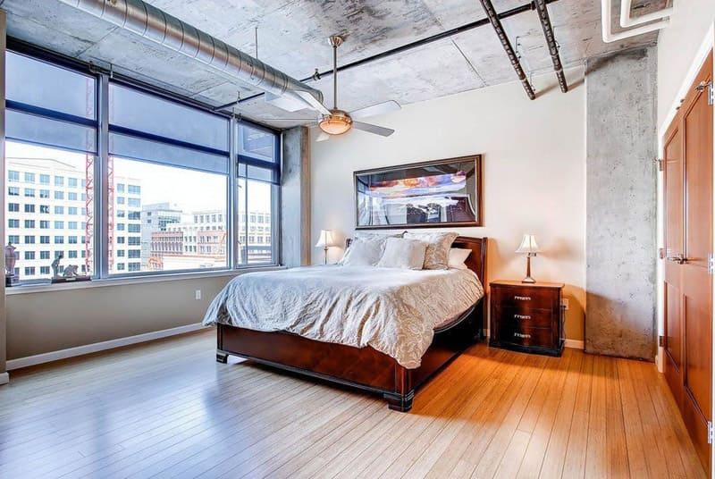 спальня в стиле лофт дизайн фото 18