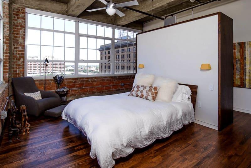 спальни в стиле лофт фото реальных квартир