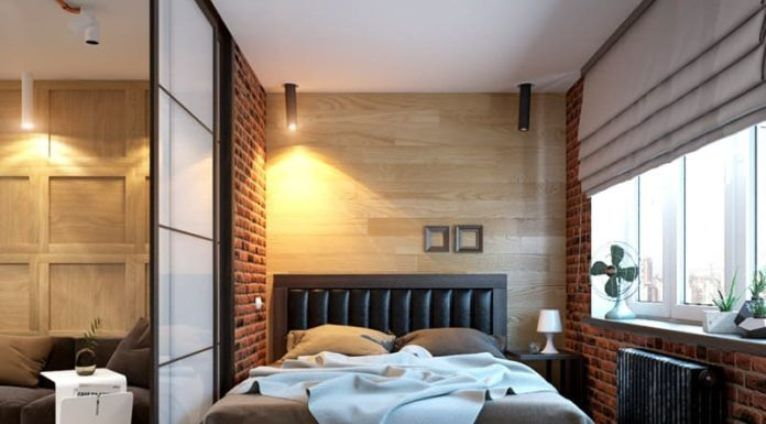 проекты спальни лофт