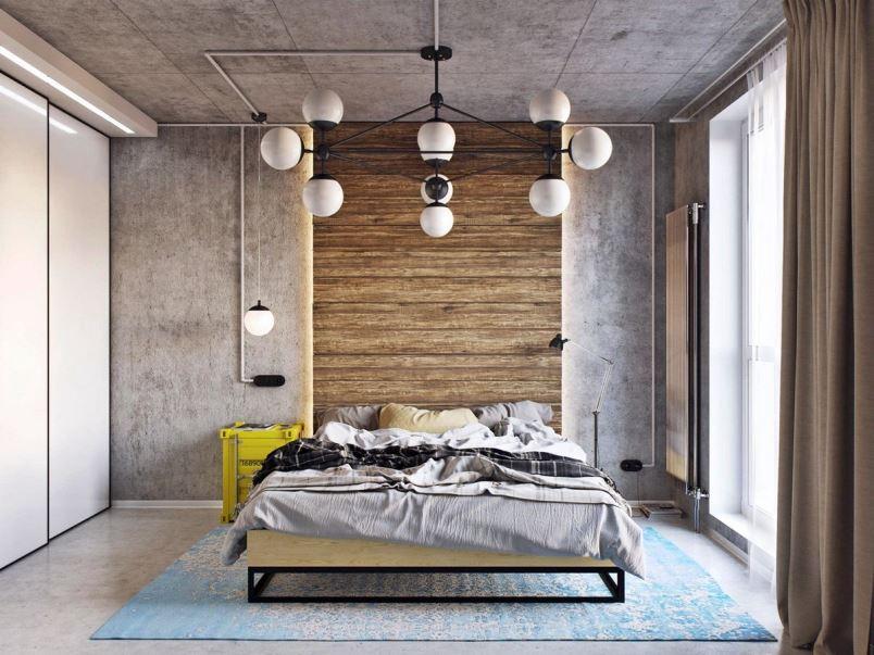спальня лофт дизайн