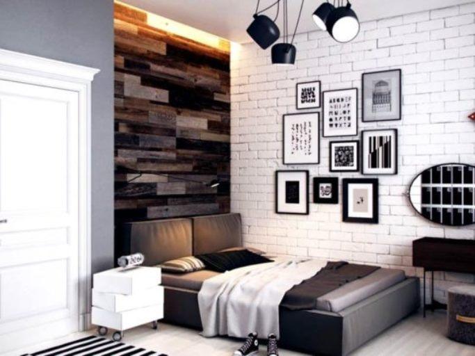 спальня подростка в стиле лофт