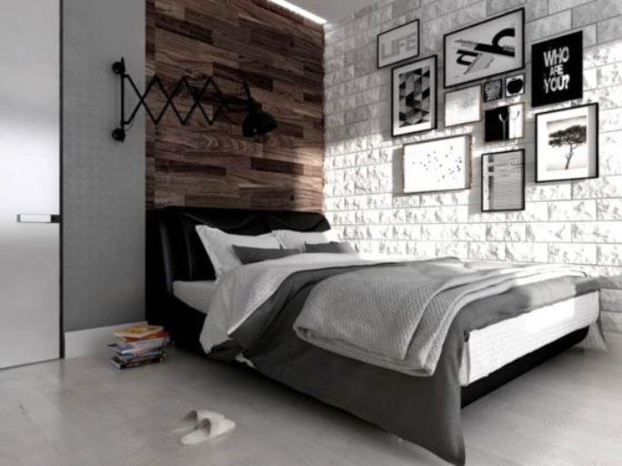 спальня в стиле лофт в квартире фото 52
