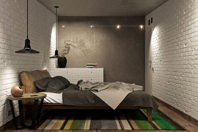 спальня лофт дизайн фото 56