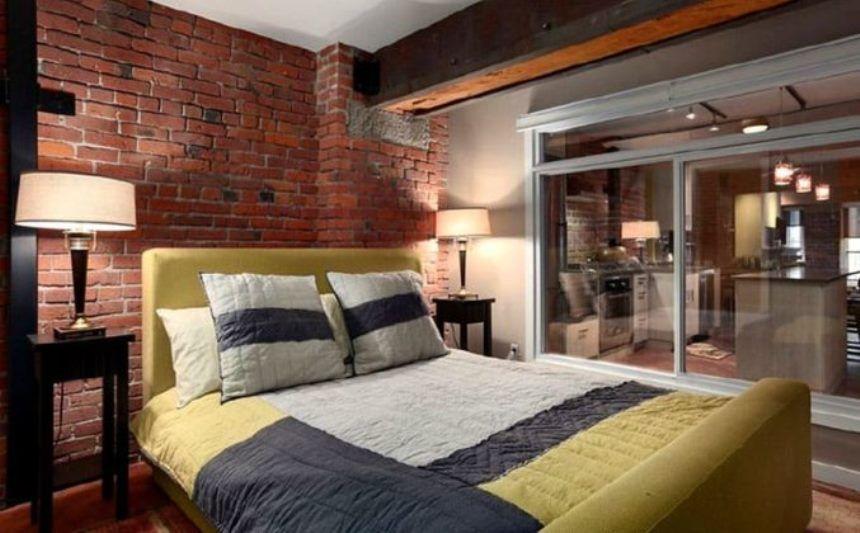 спальня в стиле лофт фото 57