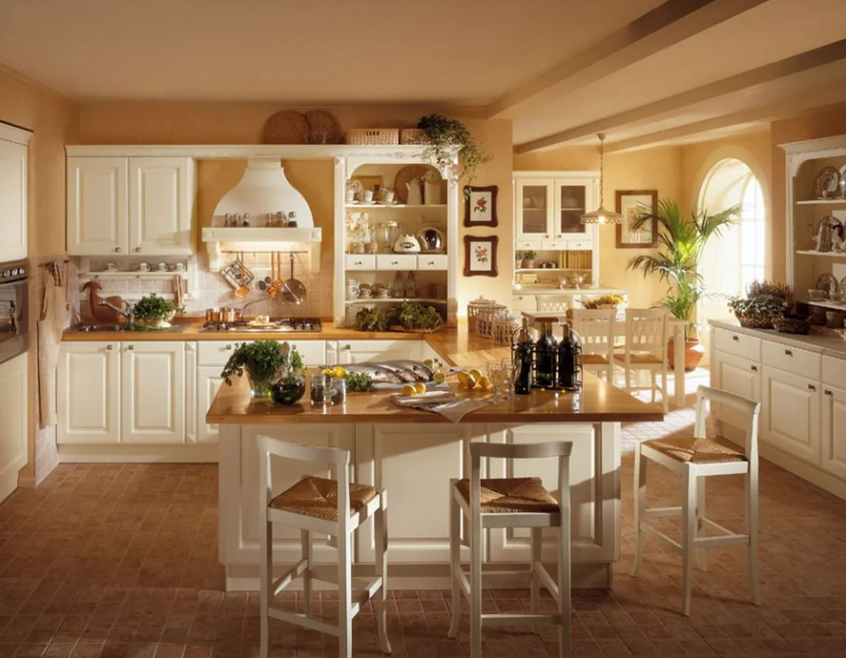 дизайн кухни в стиле кантри