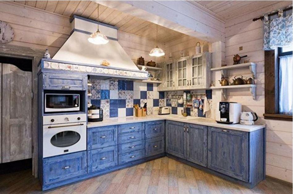 синяя кухня кантри