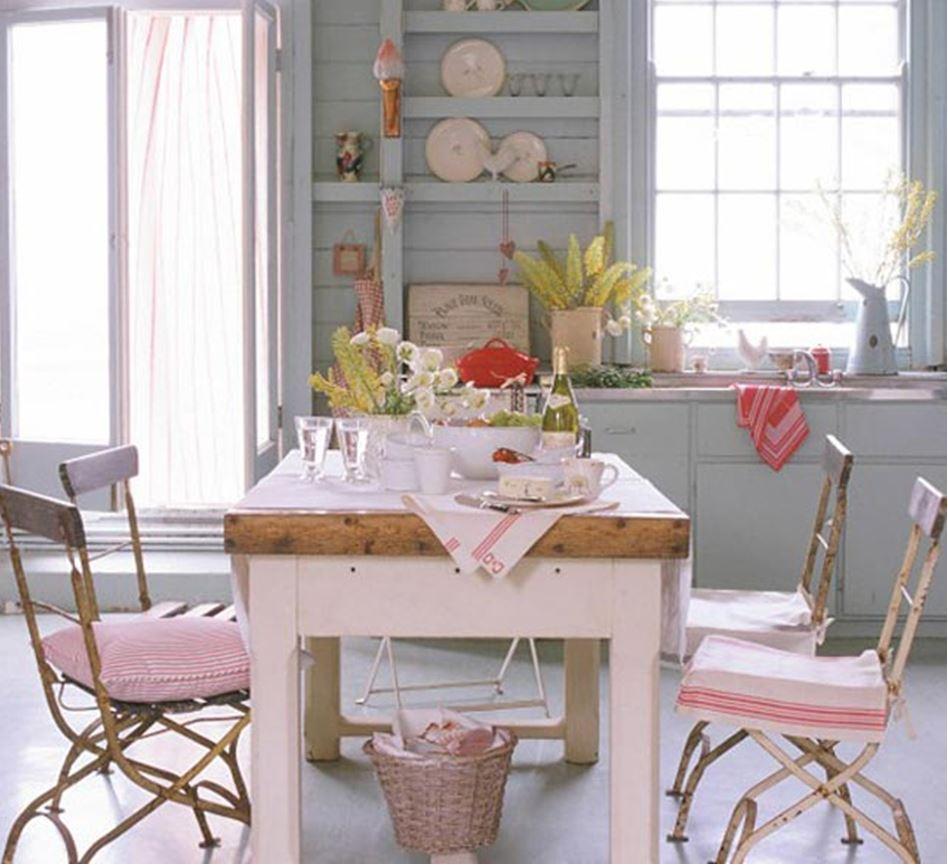 кухня в деревенском стиле в доме