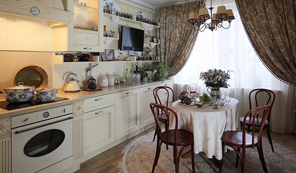 кухня в квартире в деревенском стиле