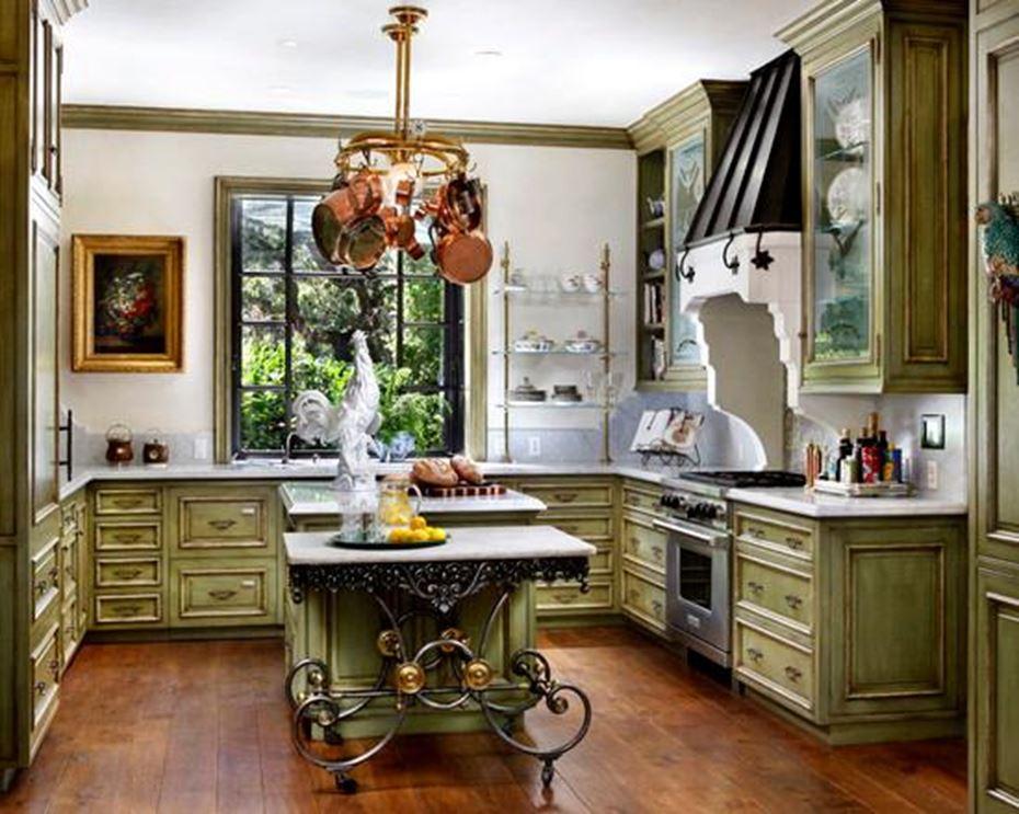 дизайн кухни в стиле прованс и кантри