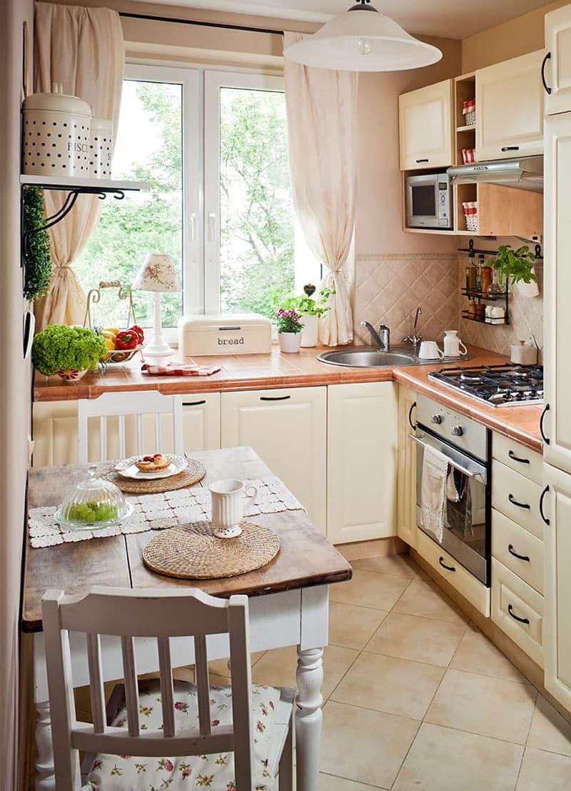 дизайн кухни в стиле кантри в квартире