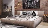 спальня в стиле лофт в квартире