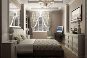 спальня в стиле неоклассика