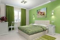 спальня в зеленом цвете