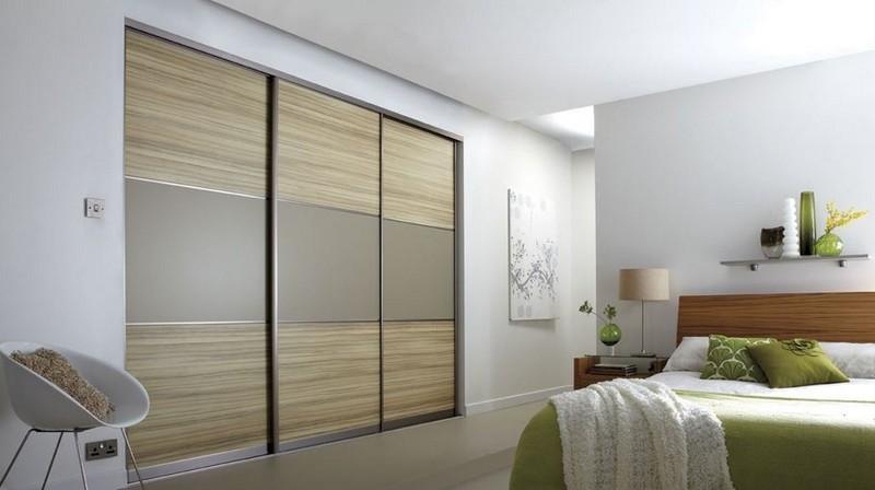 Встроенный шкаф в спальне фото