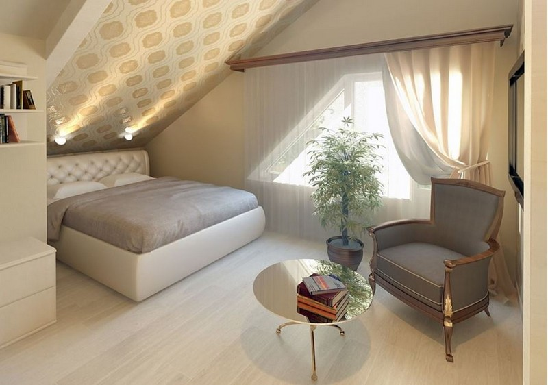 Спальня на втором этаже фото